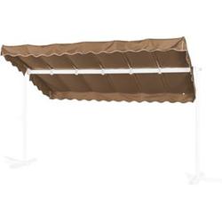 Grasekamp Ersatzdach Standmarkise Dubai Taupe  Raffmarkise Ziehharmonika Mobile Markise