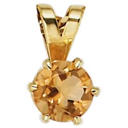 JOBO Kettenanhänger, 585 Gold mit Citrin