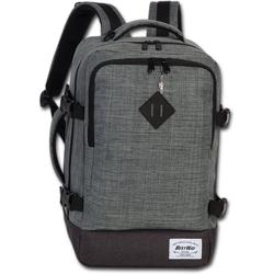 BestWay Bags Reiserucksack D2ORI103K Bestway grauer Tagesrucksack Bordgepäck, Herren, Damen Flugbegleiter, Businessrucksack Polyester, grau, Größe ca. 40cm