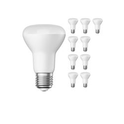 E27 R63 LED Reflektor-Leuchtmittel 8W =52W 670lm warm-weiß A+ für innen und außen , 10 Stk.