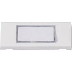 Heidemann 70049 Klingelplatte mit Namensschild 1fach Weiß 24 V/1A