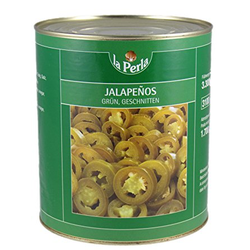 La Perla Jalapenos grüne Scheiben feurig scharf Jalapenos 3000g
