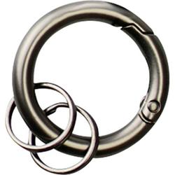Basi Schlüsselring mit Karabiner 0006-0155 Grau, Schwarz 10 St./Pack. 10St.