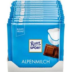 Ritter Sport Alpenmilch Schokolade 100 g, 12er Pack