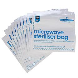 Design Go Kids Mikrowellen-Sterilisierbeutel - weiß/blau