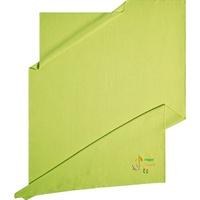 Kneer Wohndecke Happy Camper, Kneer, aus Waffelpiqué mit Stickerei, auch als Tagesdecke einsetzbar grün