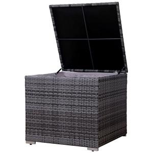 SVITA Kissenbox LUGANO / CALIFORNIA (Erweiterungsartikel, 1 Stück, Box), UV-Lichtbeständig, wetterfest, langlebig, Stauraum mit Innenbezug, grau
