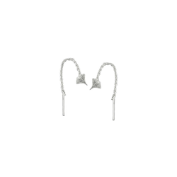 Gallay Paar Ohrhänger Durchzieher 57mm Ginkgoblatt Silber 925