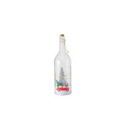 Boltze LED-Flasche Sheila in klar, 46 cm