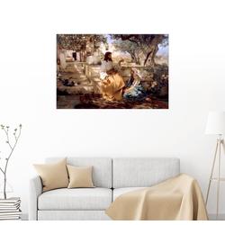 Posterlounge Wandbild, Jesus in Marthas und Marias Haus 100 cm x 70 cm