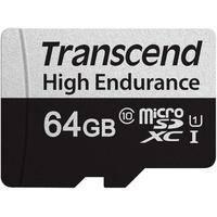 Transcend microSDXC 64GB Class 10 UHS-I + SD-Adapter