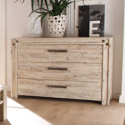 Sideboard im Vintage Design Akazie Massivholz