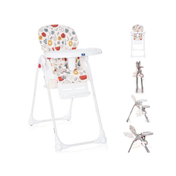 Lorelli Hochstuhl Kinderhochstuhl Dulce, Sitzhöhe verstellbar, faltbar, 5-Punkt-Gurt, Korb bunt 52 cm x 106 cm x 85 cm