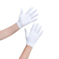 Damen Handschuhe Pantomime Butler Kostüm - weiß