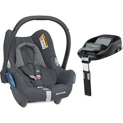 Babyschale Cabriofix, Essential Graphite inkl. Basis FamilyFix anthrazit Gr. 0-13 kg
