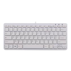 R-Go Compact Tastatur, AZERTY (FR), weiß, drahtgebundenen
