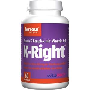 K-Right, Vitamin K-Komplex und Vitamin D, Vitamin K1, MK-4, MK-7, Vitamin D3, 60 Weichkapseln, Jarrow Quartett, optimal bioverfügbar, Jarrow Deutschland