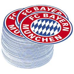 FC Bayern Bierdeckel Emblem mit Logo 50 Stück