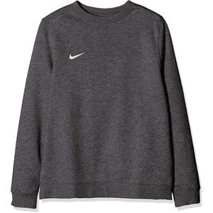 Nike Jungen Y CRW FLC TM CLUB19 Sweatshirt, Charcoal Heathr/(White), L