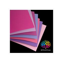 OfficeTree Bastelkartonpapier 70 Blatt Bastelpapier Rosa Töne, Tonpapier A4 130g/m zum Basteln und Gestalten