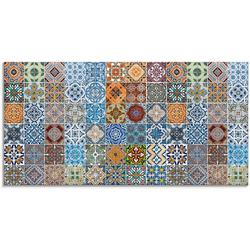 Artland Glasbild Gemusterte Keramikfliesen, Muster (1 Stück) 60 cm x 30 cm