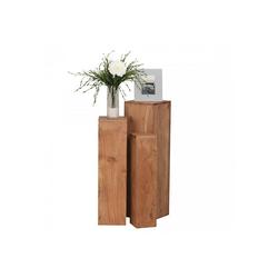 Lomadox Couchtisch, Echtholz Beistelltische Dekosäulen B/H/T ca. 24,5/85/24,5cm