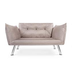 Easysitz 2-Sitzer Schlafsofa Zweisitzer Couch, Schlafsofa Zweisitzer Mehrere Farbvarianten natur