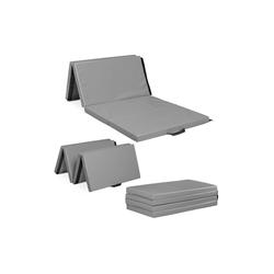 relaxdays Weichbodenmatte Turnmatte 180x80 grau