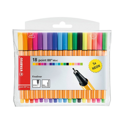 STABILO Fineliner Fineliner point 88 Mini NEON, 13 & 5 Farben