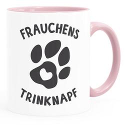 MoonWorks Tasse Kaffee-Tasse Spruch Frauchens Trinknapf Hundepfote-Motiv Becher Bürotasse Tasse Hundeliebhaber MoonWorks®