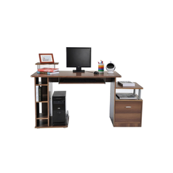 HOMCOM Computertisch Computertisch mit ausziehbarer Tastaturhalterung