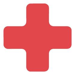 Stellplatzmarkierung »X-Stück PC« rot, EICHNER