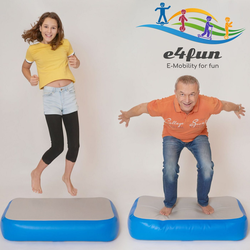 e4fun Turnmatte Airblock Air-Track Luftblock Turnmatte Turn-Block aufblasbarer Trainingsblock 100 x 60 x 20 cm Das Trampolin für daheim!