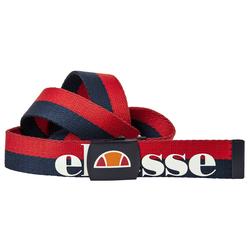 Ellesse Ledergürtel Herren Stoff-Gürtel - Gurtband, Logo Print, rot