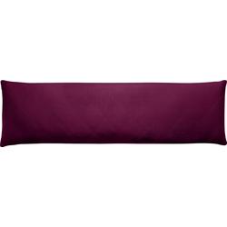 Seitenschläferkissenbezug Edel-Zwirn-Jersey, Kneer (1 Stück), für Seitenschläferkissen rot