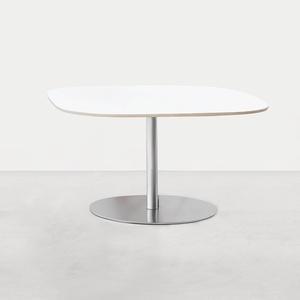 Lapalma Rondo' Tisch Ø 120cm matt verchromt Eiche gebleicht