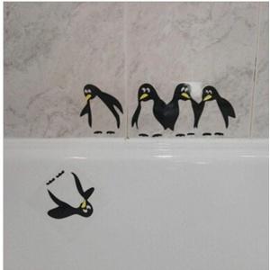 PiniceCore Nette lustige Küche Kühlschrank Aufkleber, Aufkleber Pinguin Kühlschrank Aufkleber Esszimmer Küche dekorative Wand