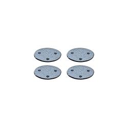LEONARDO Glasuntersetzer BURANO Untersetzer grau 4er Set