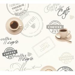 A.S. Création Schaumtapete Il Decoro Kaffee, aufgeschäumt, Motiv bunt