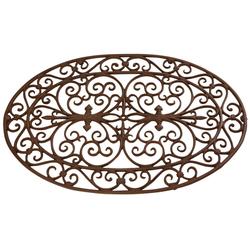 Fußmatte FUßMATTE TÜRMATTE Fussabtreter Gusseisen oval Gusseisen braun 74 x 48,5 x cm, esschert design