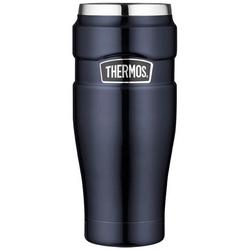 THERMOS Thermobecher Thermos Thermokaffeebecher Tumbler 'King', Edelstahl blau