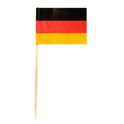 Flaggenpicker Fahnenpicker Deko-Picker Land 'Deutschland',  50 Stk.
