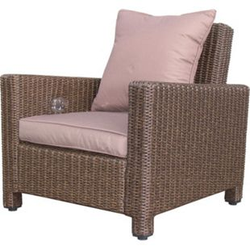 Grasekamp Rattan Lounge Loungesessel 86cm Sessel  Sofa Relaxsessel Schlafsessel Braun