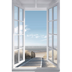 Deco-Panel »Fenster zur Nordsee«, Bilder, 33485534-0 blau 60x90 cm blau
