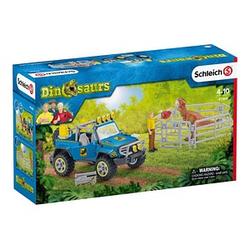 Schleich® Dinosaurs 41464 Geländewagen mit Dino-Außenposten Set