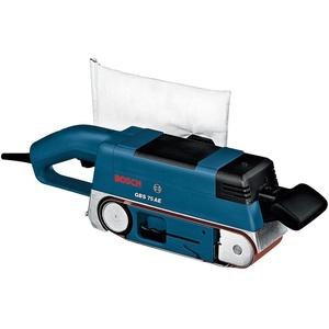 Bosch Professional Bandschleifer GBS 75 AE (750 Watt, inkl. Gewebeschleifband, Staubsack, Grafitplatte, im Karton)