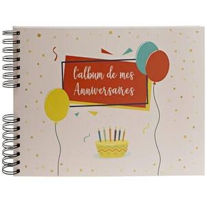 Exacompta 16085E Premium Fotoalbum Geburtstag mit 50 Seiten, perfekt für Ihre Fotos zum selbstgestalten Fotobuch Spiralalbum weiß