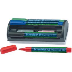 Schneider Maxx Eco 110 Boardmarker, Whiteboard- und Flipchart-Marker mit Rundspitze für Strichstärke 1-3 mm, 1 Set