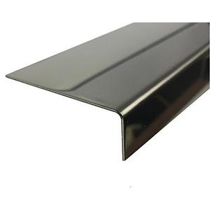 Edelstahl Winkel 1500mm 90x75 mm reflektierendVA 0,8mm stark Winkelblech, Kantenschutz,kreativ bauen 150cm Edelstahl L-Profil Schenkel 9x7,5 cm