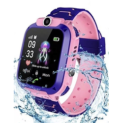 Smartwatch Watch Q12 für Kinder GPS Locator Wasserdicht pink